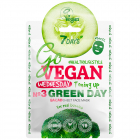 Маска для лица 7 Days Go Vegan тканевая Wednesday Green Day 25 г