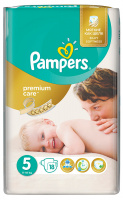 Подгузники Pampers Premium Care 5 (11-18 кг, 18 штук)