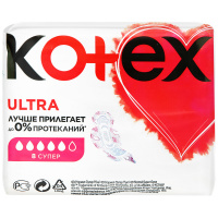 Прокладки Kotex Ultra Super 5 капель 8 штук