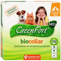 Ошейник Green Fort neo Био от блох и клещей для кошек и мелких собак 40 см