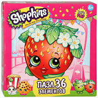 "Пазл Origami Shopkins 36А ""Strawberry Kiss"""