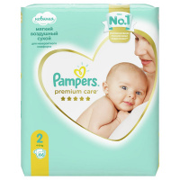 Подгузники Pampers Premium Care Mini 2 (4-8 кг, 66 штук)