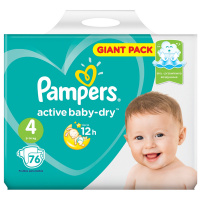 Подгузники Pampers Active Baby-Dry Maxi 4 (9-14 кг, 76 штук)