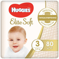 Подгузники Huggies Elite Soft 3 (5-9 кг, 80 штук)
