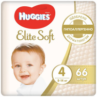 Подгузники Huggies Elite Soft 4 (8-14 кг, 66 штук)
