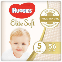 Подгузники Huggies Elite Soft 5 (12-22 кг, 56 штук)