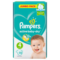 Подгузники Pampers Active Baby-Dry Maxi 4 (9-14 кг, 70 штук)