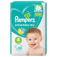 Подгузники Pampers Active Baby-Dry 4 (9-14 кг, 20 штук)