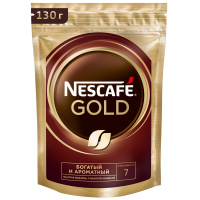 Кофе Nescafe Gold растворимый сублимированный 130 г