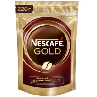 Кофе Nescafe Gold растворимый сублимированный 220 г