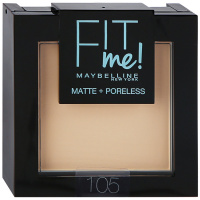 Пудра Maybelline Fit Me для лица 105 натурально-бежевый 9 г