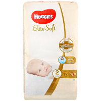 Подгузники Huggies Elite Soft 2 (4-6 кг, 50 штук)
