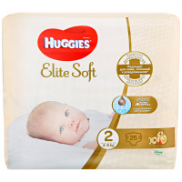 Подгузники Huggies Elite Soft 2 (4-6 кг, 25 штук)