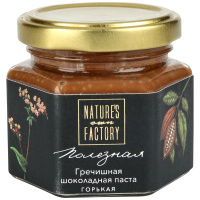 Паста шоколадная гречишная Nature's Own Factory горькая 120г