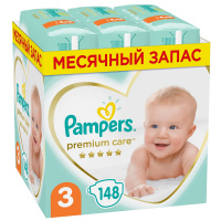 Подгузники Pampers Premium Care 3 (6-10 кг, 148 штук)