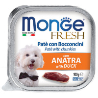 Корм влажный для собак Monge Dog Fresh утка 100 г