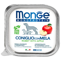 Корм влажный для собак Monge Dog Monoprotein Fruits паштет из кролика с яблоком 150 г