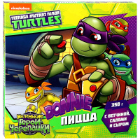 Пицца Teenage Mutant Ninja Turtles Донателло с ветчиной салями и сыром 350 г
