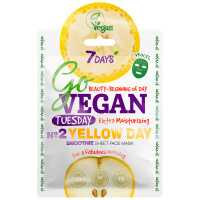 Маска для лица 7 Days Go Vegan тканевая Tuesday Yellow Day 25 г