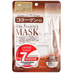 Маска для лица Japan Gals Pure 5 Essentialс Mask c коллагеном 7 штук