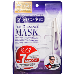 Маска для лица Japan Gals Facial Essence Mask с плацентой 7 штук