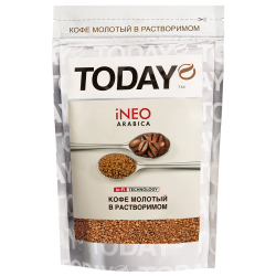 Кофе Today In-Fi (INEO) сублимированный молотый в растворимом 75г