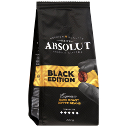 Кофе Absolut Drive Black Edition в зернах 200 г