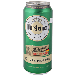 Пиво Warsteiner Double Hopped (Варштайнер Дабл Хоп) светлое 4.8% (ж/б) 0.5 л
