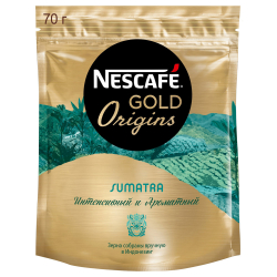 Кофе Nescafe Gold Origins Sumatra растворимый сублимированный 70 г