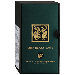 Чай ЛунФэн Дракон и Феникс Green Tea with Jasmine зеленый с жасмином 100 г