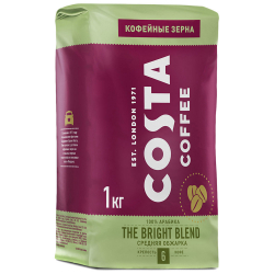 Кофе Costa Coffee Bright Blend в зернах 1 кг