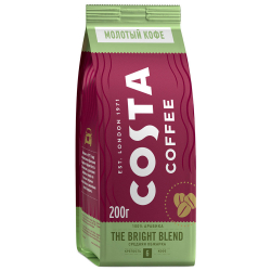 Кофе Costa Coffee Bright Blend молотый 200 г