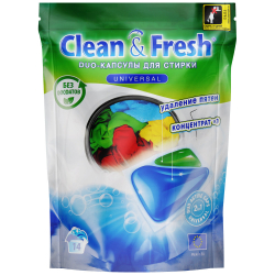 Капсулы для стирки Clean&Fresh Универсал гелевые 14 штук