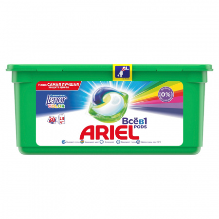 Капсулы для стирки Ariel Pods Touch of Lenor Fresh 3 в 1 30 штук