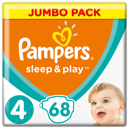 Подгузники Pampers Sleep&Play 4 (8-14 кг, 68 штук)