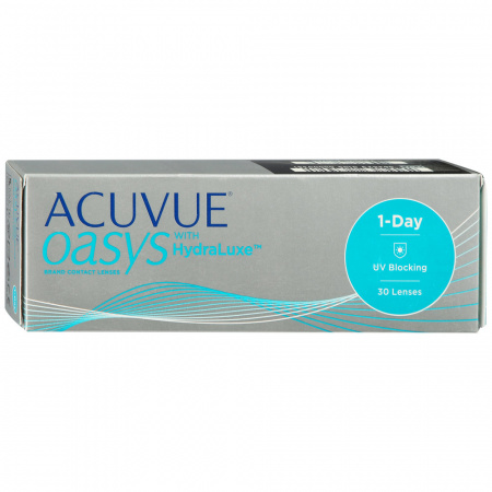 1-Day AcuvueOasys with Hydraluxe R:=8.5 D:=-7,00 Контактные линзы 30шт