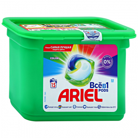 Капсулы для стирки Ariel Liquid Capsules Color 15 штук