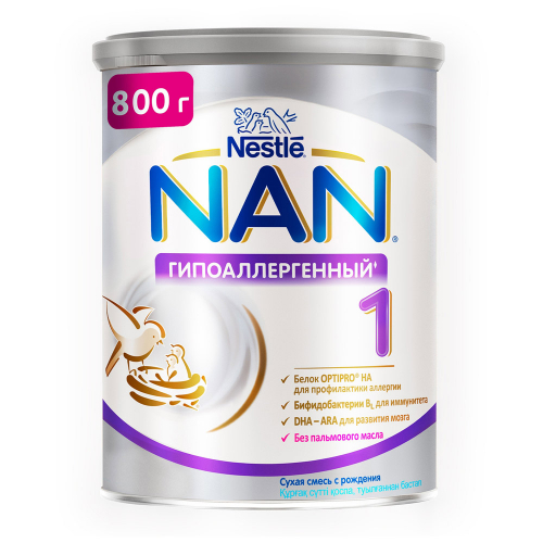 Смесь молочная сухая Nestle NAN 1 Optipro HA гипоаллергенная для профилактики аллергии с 0 месяцев 800 г