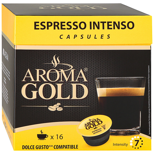 Капсулы Aroma Gold Espresso Intenso 16 штук по 8 г