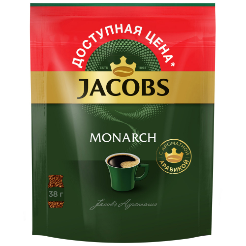 Кофе Jacobs Monarch растворимый сублимированный 38 г