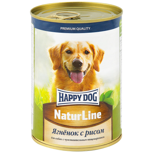 Корм влажный Happy Dog Ягненок с рисом для собак 410 г