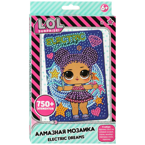 Мозаика L.O.L. Surprise! Алмазная Electric Dreams 10х15 см