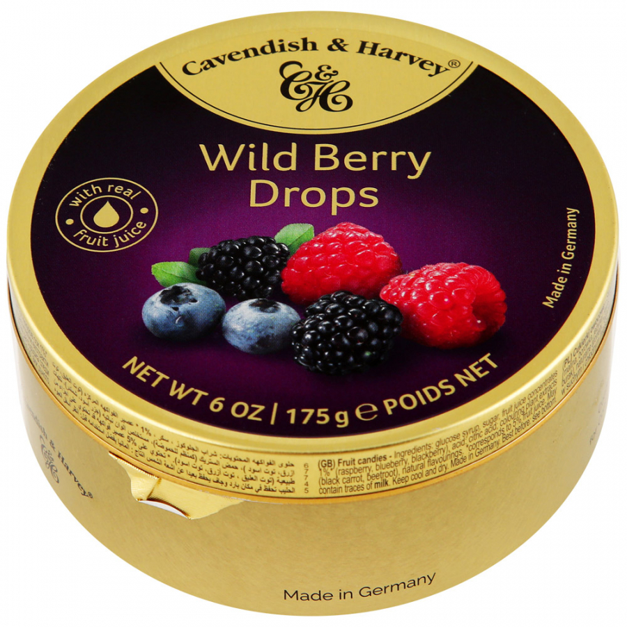 Леденцы Cavendish&Harvey Wild Berry Drops 175 г
