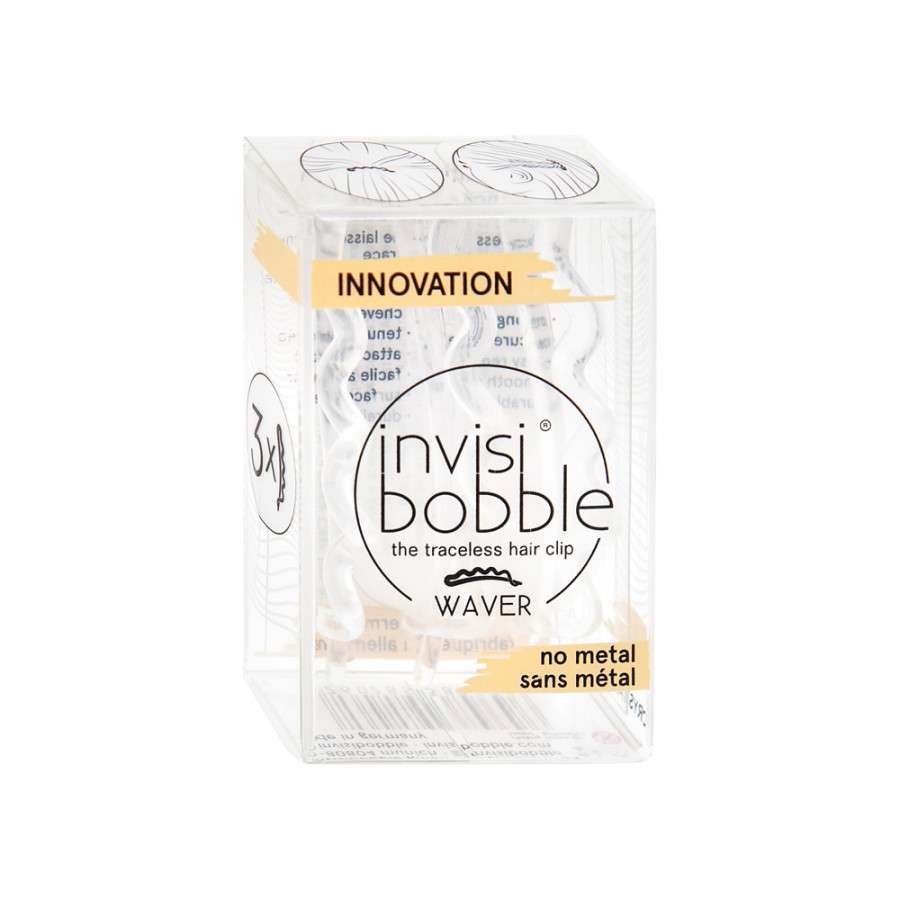 Заколка Invisibobble Waver Crystal Clear 3 штуки